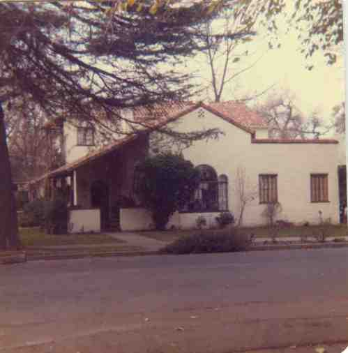 728 First Street in Woodland. I think I remember taking this one myself on New Year's Day 1980. Note the old Xmas tree at the curb.