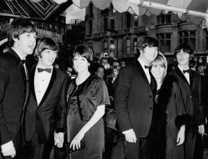 Beatles & Beatle wives at the Help! premiere