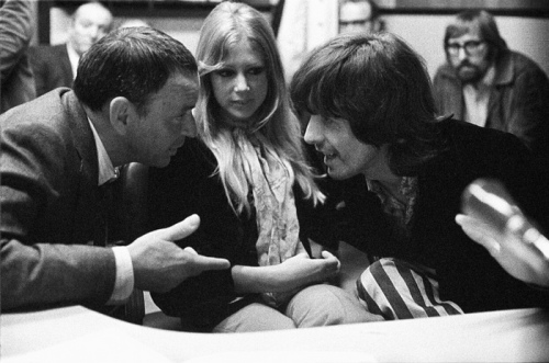 Sinatra being polite to George Harrison, probably through gritted teeth, 1968