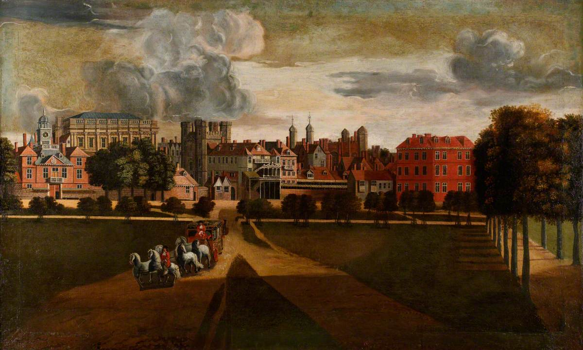 Danckerts, Hendrick, 1625-1680; The Old Palace of Whitehall