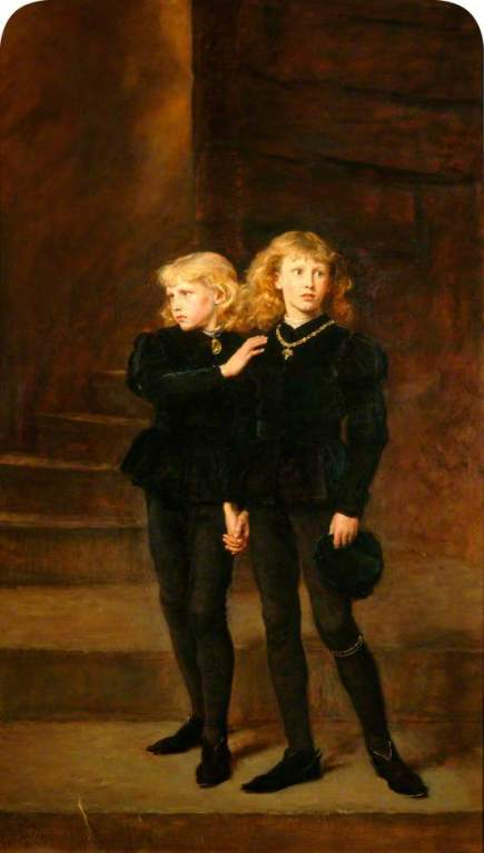 Millais, John Everett, 1829-1896; The Princes in the Tower