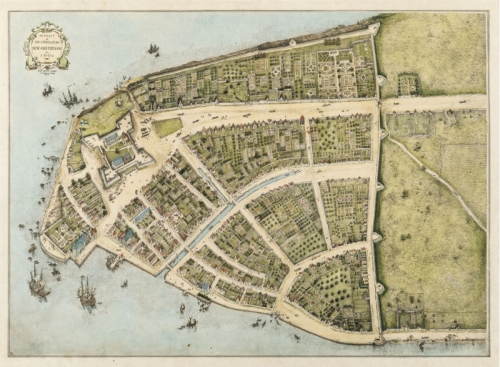 Castello-Plan-Remnants-of-Dutch-New-Amsterdam-1660-Manhattan-NYC