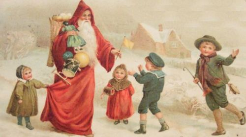 Santa-Giving-Presents-To-Children